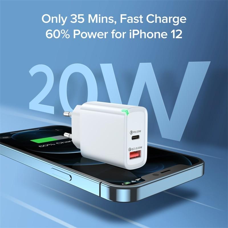 Зарядное устройство INIU PD 20 Вт USB Тип C, быстрая зарядка для телефона iPhone 12 11 mini X Xs Xr Pro Max 6 7 8 Plus Huawei Xiaomi-1