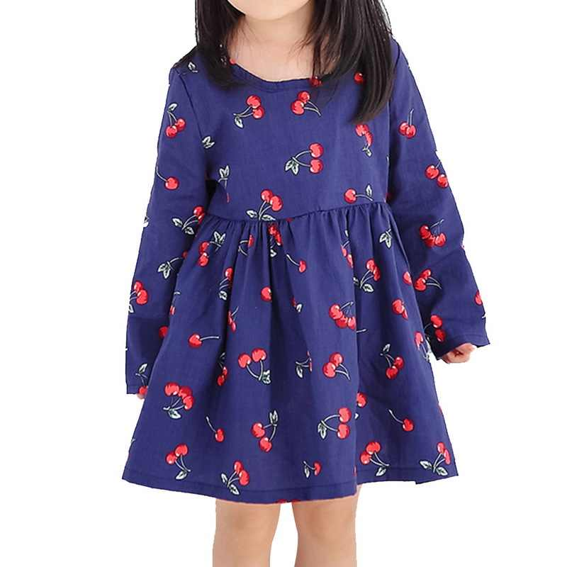 Spring Autumn Girl Children Gown Girls Long Sleeve Plaid Robe Soft Cotton Summer Princess Dresses  Kids Baby Girls Dress