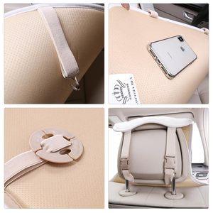 Image 5 - Funda de piel sintética para asiento de coche, cojín Universal de piel Artificial para interior de automóvil, para toyota, BMW, Kia, Mazda y Ford