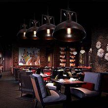 Lámpara de luz colgante de Granero náutico Industrial con cúpula rústica/forma de cuenco Sala Bar cocina Industrial lámparas colgantes
