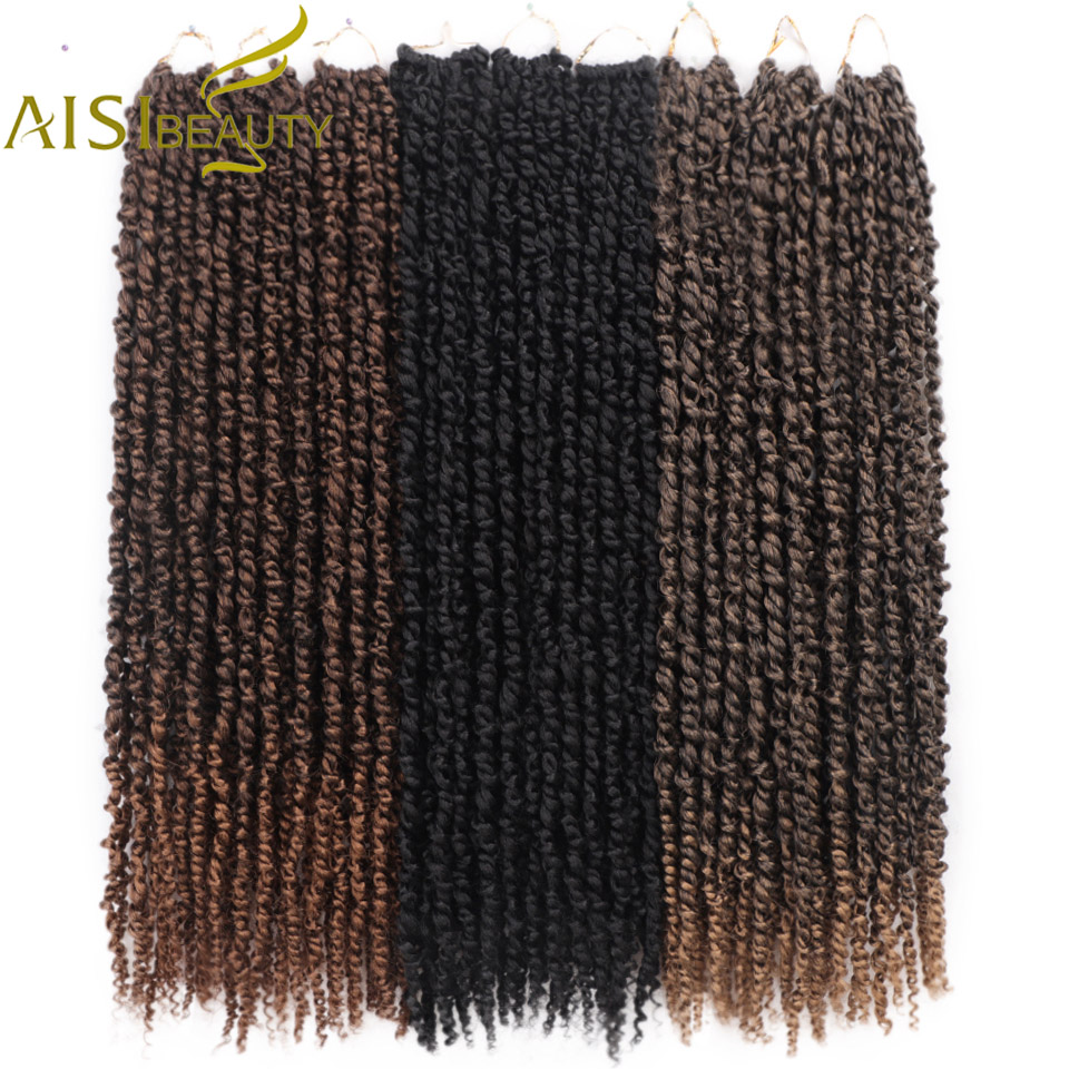 18inch Pre-twisted Passion Twist Hair Ombre Bomb Twist Pre Looped Braid Crochet Braiding Synthetic Crochet Hair Extension