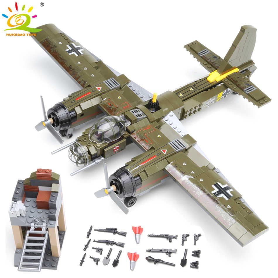 559 шт., военный Ju-88, бомбардировочный самолет, строительный блок, WW2, вертолет, армейское оружие, солдат, модель Legoing, набор кирпичей, игрушки для детей