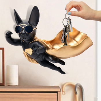 Nordic style home decorations Superman dog wall hanging candy box wall decoration lucky dog creative key animal storage box