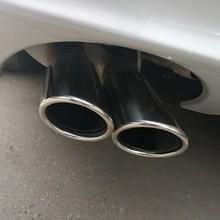 Para Benz W204 C63 C180 C200 C220 C230 C250 C280 C300 C350 W204 cola silenciador de escape punta tubos silenciador tubo de cola 2 uds