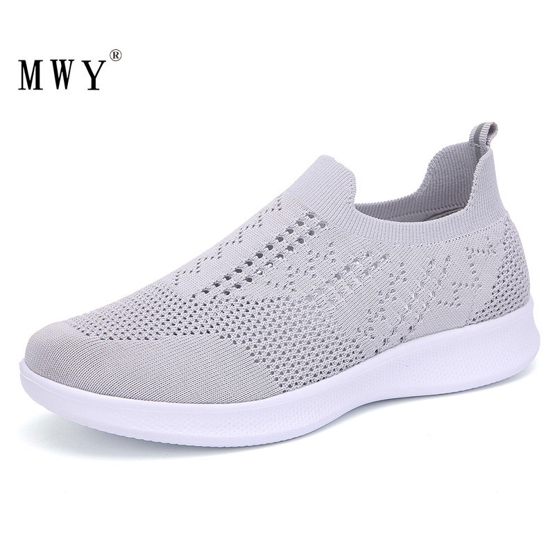 MWY Fashion Flat Shoes Women Breathable Fly Woven Sock Sneakers Soft Walking Shoes Loafers Women Casual Shoes Deportivas Mujer