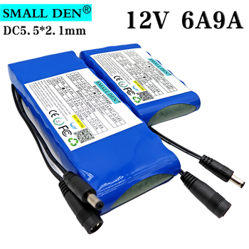 12V 6Ah 9Ah 18650 rechargeable battery 9000mAh 12V10A BMS lithium ion battery pack car camera lighting CCTV monitor battery image