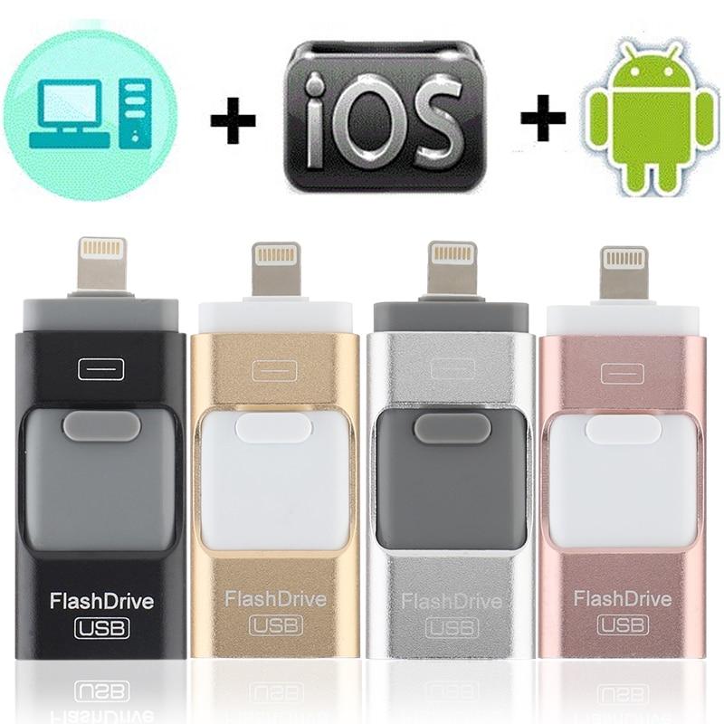 3.0 OTG USB Flash Drive For Apple IPhone IPad IPod Mobile USB Flash Disk Business USB Stick Flash Pen Drive 128G 64GB 32GB 16GB