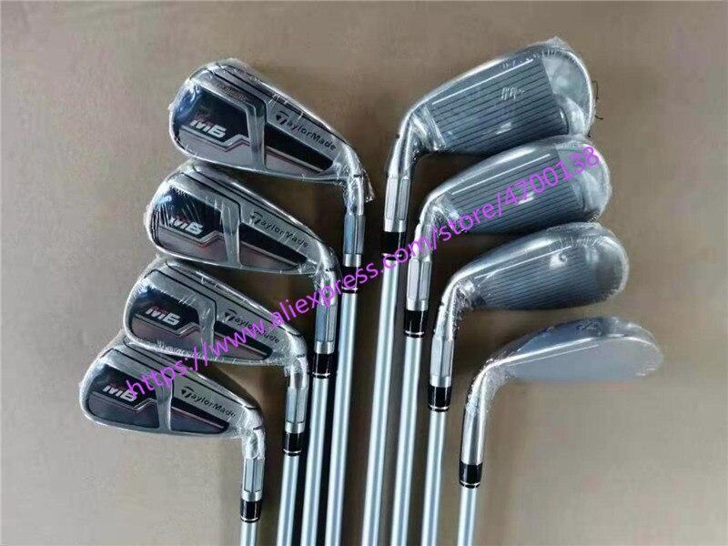 Clubs de Golf 2019 M6 fer modèle M6 fer ensemble fers fers de Golf 4-9PS (8 pièces) R/S Flex acier/Graphite arbre avec couvercle de tête