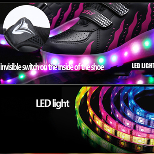 Image 2 - Kids Glowing Sneakers with Wheels Led Lights Up Shoes Women Roller LED lighting Shoes Child Sports Boy Luminous Sneaker EU 27 41