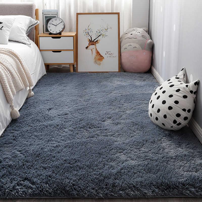 nordique ins chambre petit tapis blanc peluche chevet tapis salon epais tapis adapte a la decoration de la maison garcon ramper tapis