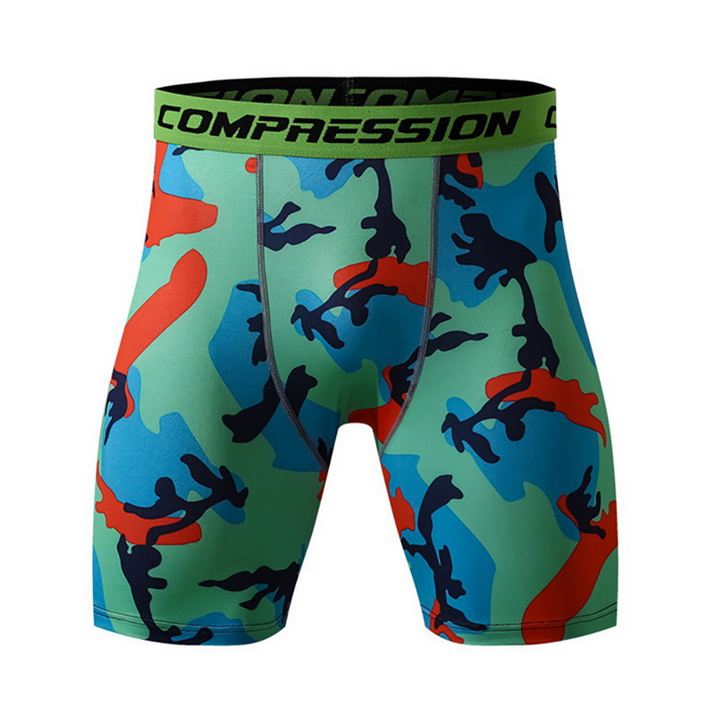 Men Fitness Running Short Sport Push Up Workout Breathable Running Tights Shorts Mens Camouflage Quick Drying Yoga Shorts
