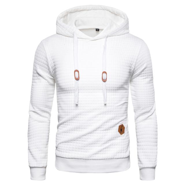 New Spring Autumn Hoodies Men Casual Hooded Men's Sweatshirt Plaid Pullover Hoodie Men Clothing Streetwear