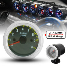 1pc Tachometer Engine Equipment For 4 6 8 Cylinder 52MM Auto LED shift(China)
