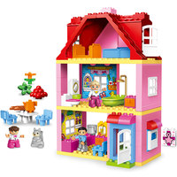 Duplos Maison LegoINGlys Friends Family House Pink City Girl Princess Figure Home Kids Building Block Educational Gift for 10505