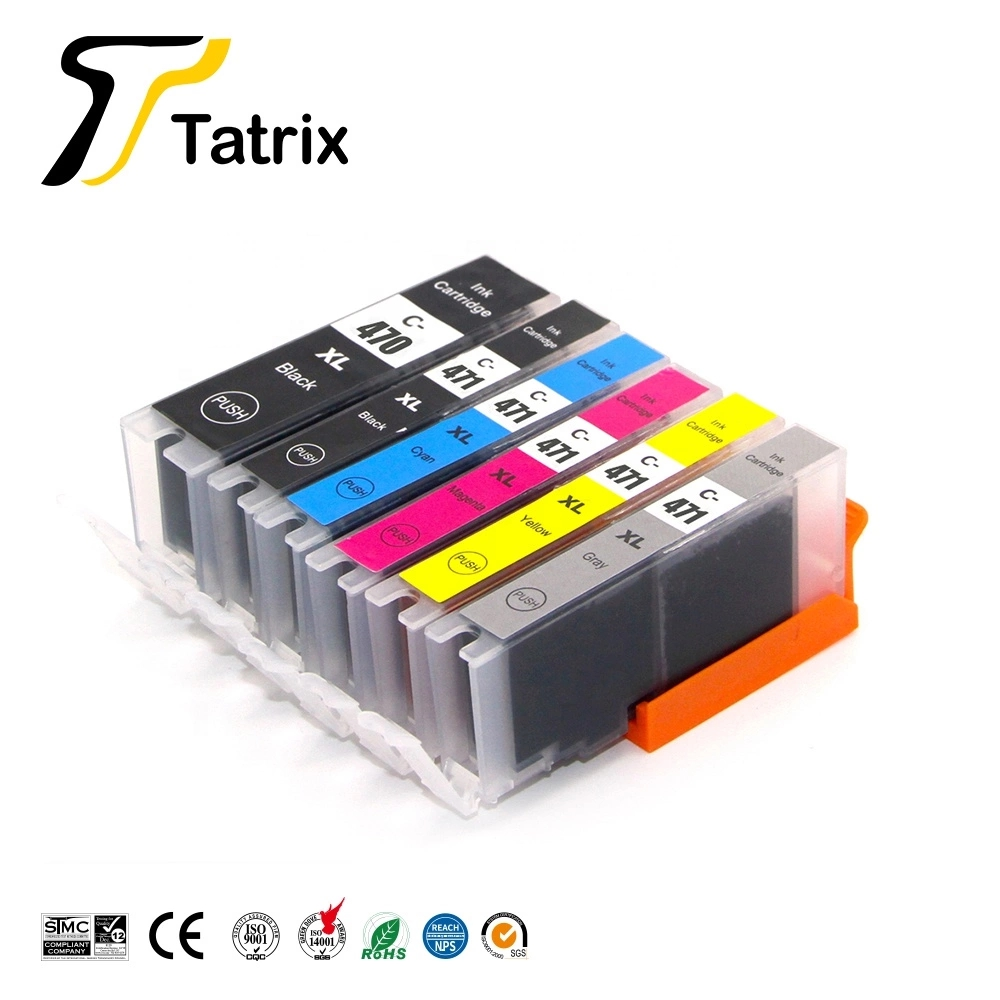 Tatrix For <font><b>Canon</b></font> <font><b>470</b></font> <font><b>471</b></font> PGI470XL CLI-471XL PGI470 Ink Cartrdige For CanonPIXMA MG7740 PIXMA TS8040/TS9040 Printer image