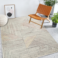 Nordic style geometric machine weaved living room rug, area rug ,big size INS popular home decoration bedside carpet