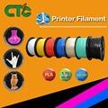 CTC 3D принтер нить 1 75 мм ABS PLA 0 8 кг для RepRap MarkerBot 3D принтер черный белый фиолетовый зеленый пластик нити США в наличии