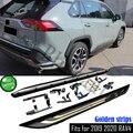 Левая и правая алюминиевая ступенька  2 шт.  подходит для Toyota RAV4 RAV 4  2019  2020  защитная балка Nerf  педаль  боковые лестницы
