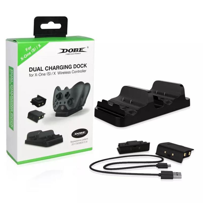 Двойная зарядная док-станция Зарядное устройство с 2 Перезаряжаемые батареи Быстрая зарядка для xbox, xbox ONE S для xbox One X геймпад