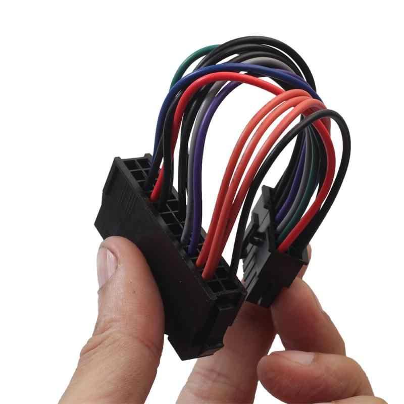 Kabel zasilający przewód 18AWG drutu ATX 24 Pin do 14 Pin Adapter kabel do lenovo IBM Dell Q77 B75 A75 Q75 płyta główna TXTB1