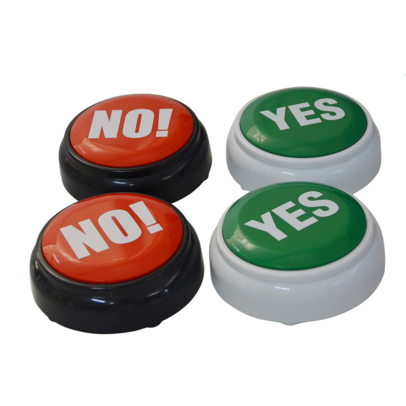The NO YES Button - Toys No Squeeze Sound Toys Button- Music Box Novelty Gag Toy- Event Party Game Supplies Hot Decoration Gift