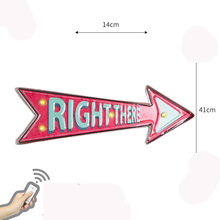 Right There Led Neon Light Sign for Restaurant Cafe Bar Pub Illuminated Hanging Metal Signs Vintage Wall Decor Remote Control led hanging ice cream wall pendant light neon sign cafe bar signboard decoration
