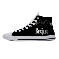 Hot Latest Men's Casual The Beatle Band Metal Music3D Pattern Logo Men/Woman Lightweight Breathable Comfortable Top Canvas Shoes