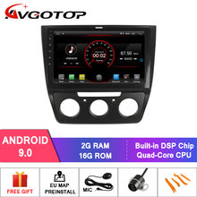 AVGOTOP Android 9 Bluetooth GPS Car Radio DVD Player For VOLKSWAGEN YETI 2014-2017 (Manual Air- Conditioner version)(China)