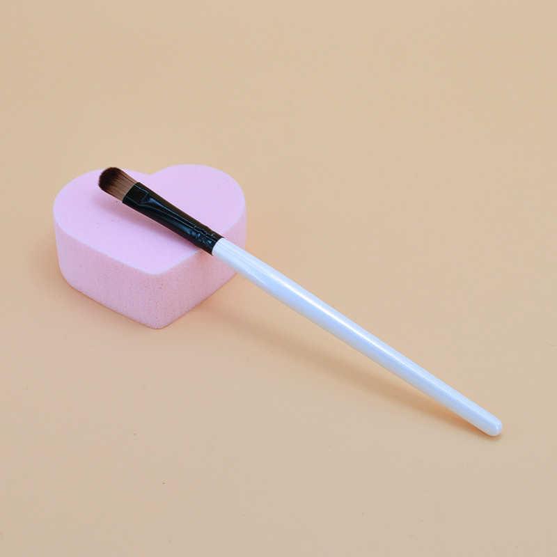 1 adet göz makyaj fırçalar Set ahşap saplı göz farı paleti kapatıcı Eyeliner kaş makyaj fırça kozmetik fırça aracı