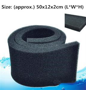 Practical 50*12*2cm Black Biochemical Cotton Filter Aquarium Fish Tank Pond Foam Sponge Filter Useful Tool Hot Sale