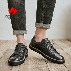 Image 5 - Gli uomini del cuoio genuino Casual Scarpe Uomo New Fashion Lace up Scarpe Comode Allaperto A Piedi Scarpe Da Uomo 2020 di Marca Ufficio scarpe da Uomo