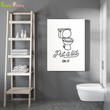 Toilet Paper Lavatory Wall Art Canvas Painting WC Nordic Poster Bathroom Posters Prints Pictures For Living Room Unframed