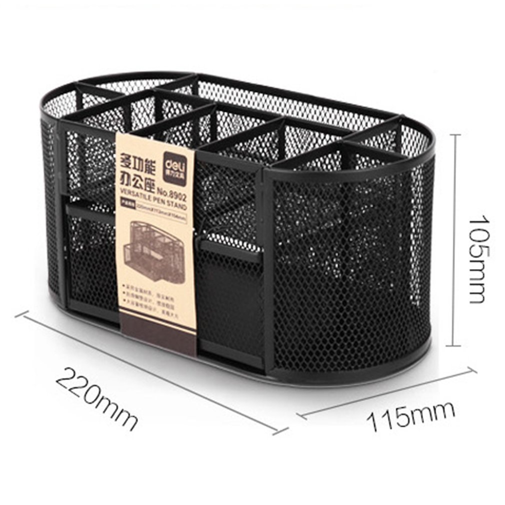 Multifunction Deli Home Office Desktop Mesh Storage Box Case File Holder Organizer Sundries Stationery Stand Container