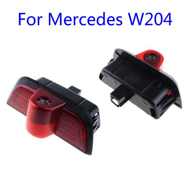 2X Led Car Door Welcome Light Laser Projector Logo Ghost Shadow Lamp For <font><b>Mercedes</b></font> <font><b>benz</b></font> <font><b>W204</b></font> C class AMG <font><b>C200</b></font> C230 C260 C280 C300 image