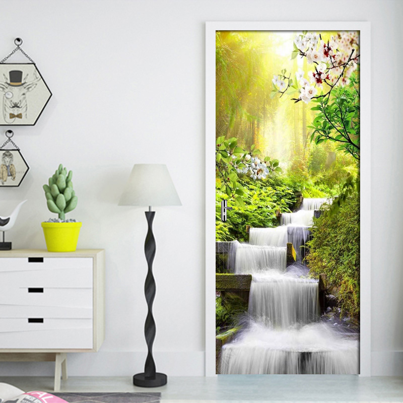 Permalink to Door Sticker Self Adhesive DIY Renovation Landscape Mural Waterproof Print Art Pictures New Home Decoration Bedroom Renovation