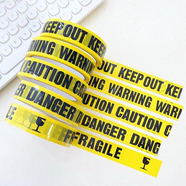 25 м DIY декоративные Предупреждающие ленты, украшения для Хэллоуина, уличные страшные вечерние ленты для строительства, вечеринки на день рождения, вечерние ленты с предостережением