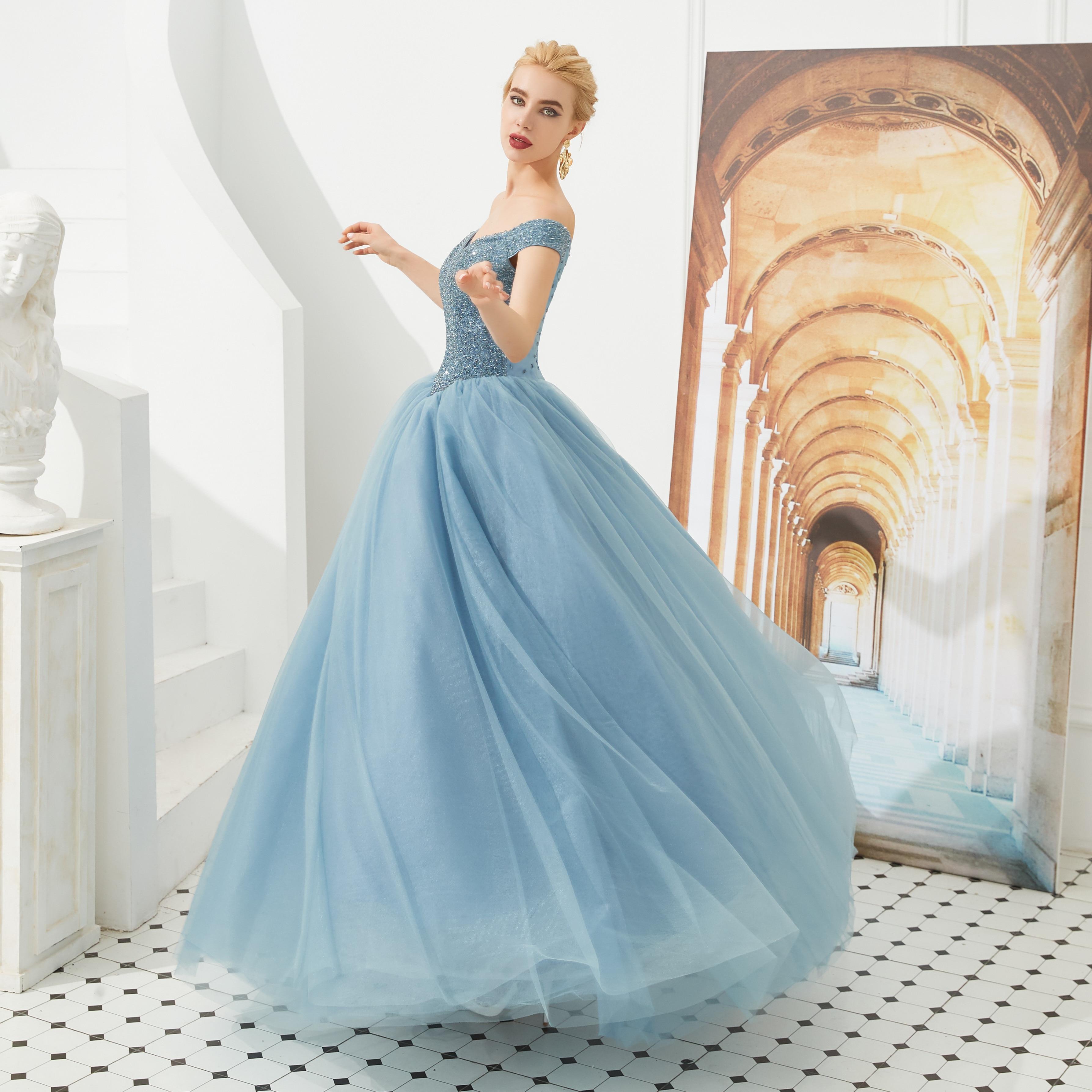 Robe de bal princesse à épaules dénudées robe de bal douce 15 ans robes de bal en cristal