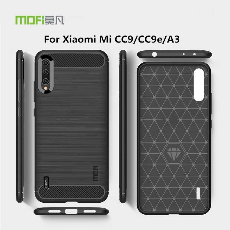 MOFI для Xiaomi mi CC9 CC9e A3 Чехол Мягкий Силиконовый ТПУ Тонкий чехол для телефона Xiaomi mi CC 9 9e задняя крышка Щит