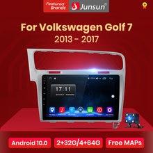 Junsun V1 2G + 32G Android 10.0 Rds Voor Volkswagen Golf 7 2013-2017 Auto Radio Multimedia video Speler Navigatie Gps 2 Din Dvd