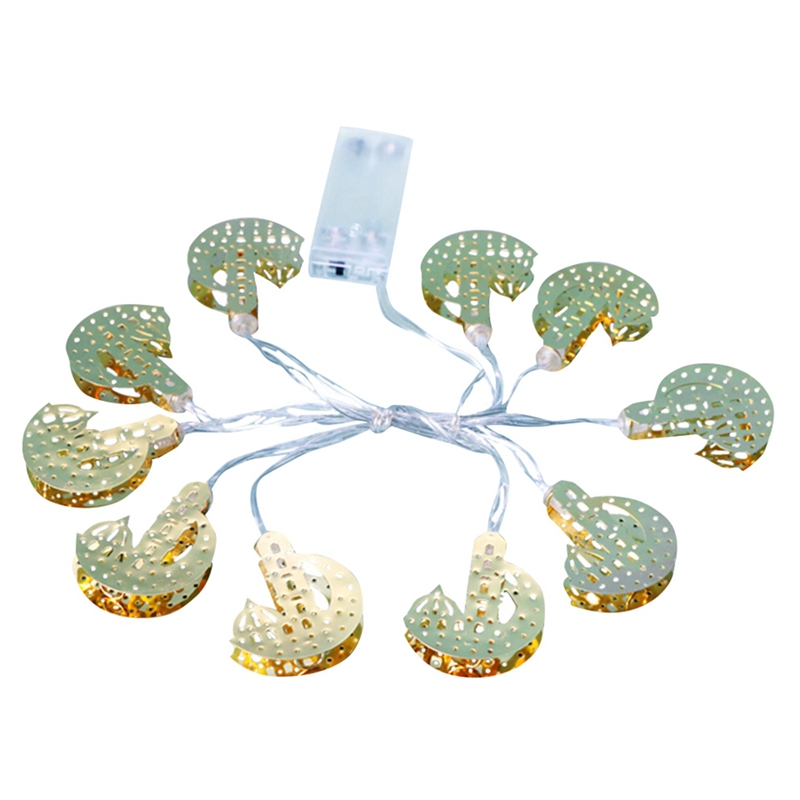 Islamic Eid Ramadan Muslim Led String Light 1.65M 10 Led Heart Moon Castle Decoration Light For Hari Raya Puasa Christmas Lanter