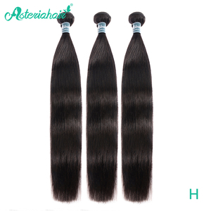 Asteria Straight Hair Bundles Brazilian Hair Weave 1 Bundle 3 OR 4 Bundles 8-26 Inch Remy Human Hair Extensions NaturalBlack(China)