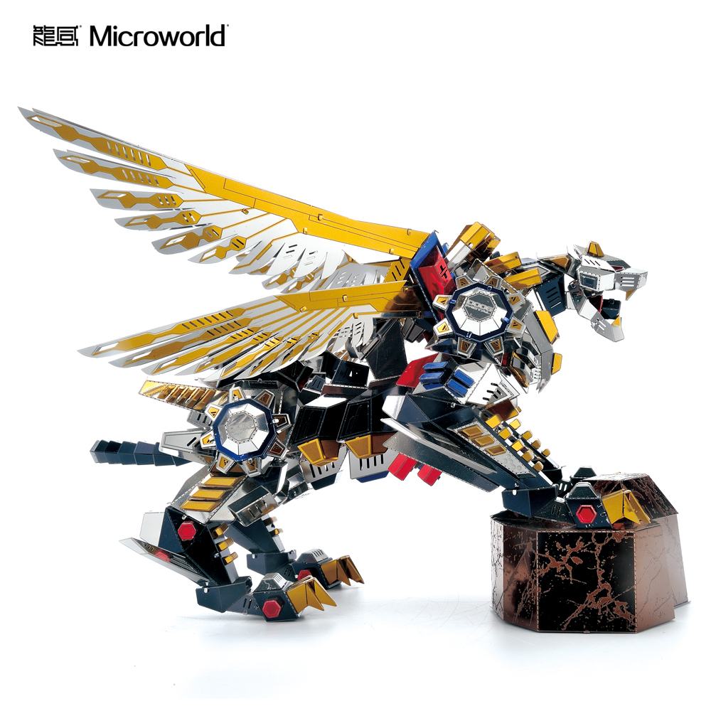 2020 Microworld Flying Tiger Model DIY Laser Cutting Jigsaw Puzzle Animal Robot Model 3D Metal Puzzle Toys For Adult Gift