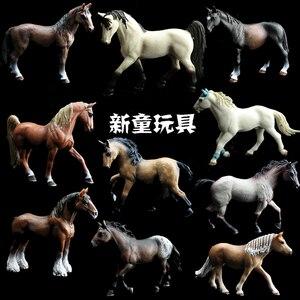 Image 1 - Kinder Simulation Zoo Modell Spielzeug Wilde Tiere Wild Horse Racing Pony Einrichtungs Fotografie Requisiten Handwerk Ornamente