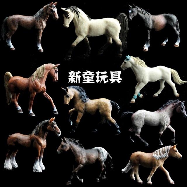 Kinder Simulation Zoo Modell Spielzeug Wilde Tiere Wild Horse Racing Pony Einrichtungs Fotografie Requisiten Handwerk Ornamente