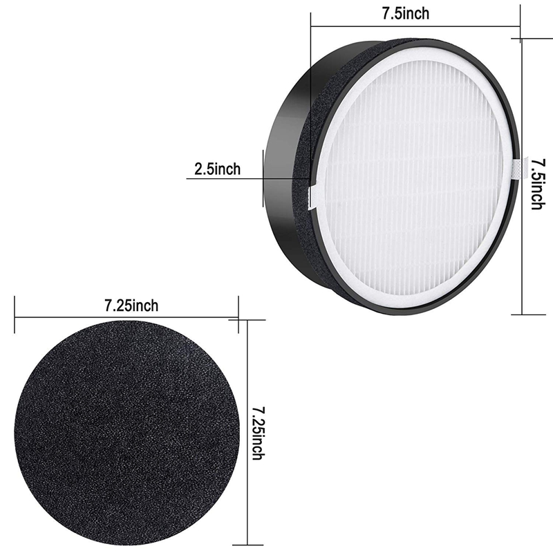 2 Packs Air Purifier Replacement Filter for Levoit Lv-H132 True Hepa and Activated Carbon Filters Set Compatible with Part Lv-H1
