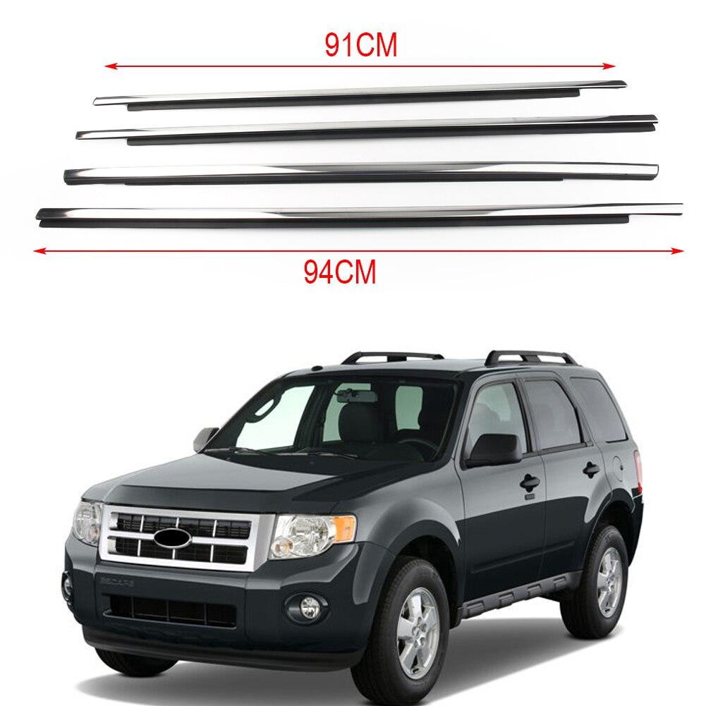 4X coupe-froid fenêtre moulage garniture voiture fenêtre joint ceinture moulage garnitures pour Ford Escape Kuga 2000 2001 2002 2003 2004 2005-2012