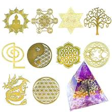 Metal-Stickers for DIY Resin Silicone Making-Mould Craft Jewelry-Tool Energy Tower-Pattern