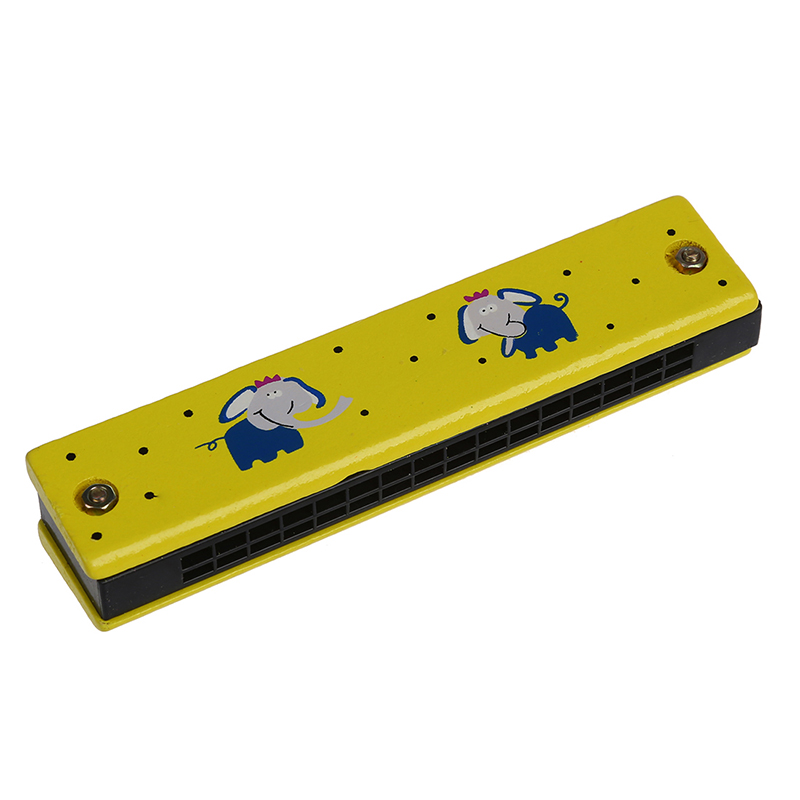 Wooden Harmonica for Child Kids Music Educational Toy---Random Pattern