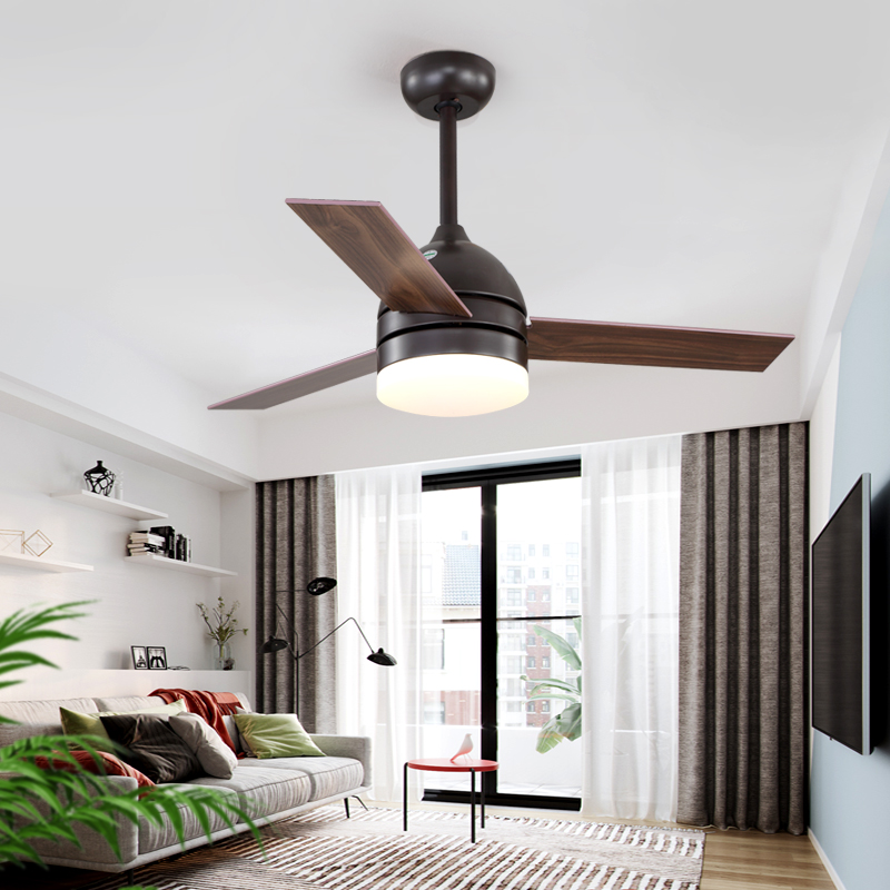 Intellective Ikvvt Modern Ceiling Fan With Light Industrial Fan Light 42/48 Inch Wooden Blades Dimming Fan Lamp Ventilador De Teto Ac220v Delicacies Loved By All