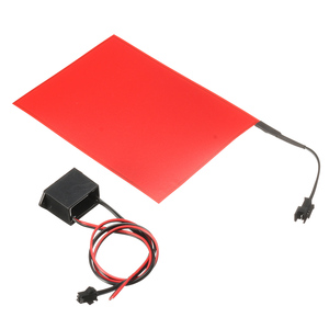 Image 2 - 105mmx148mm 12V A6 EL Panel Light Electroluminescent Light Paper Neon Sheet W/ Actuator